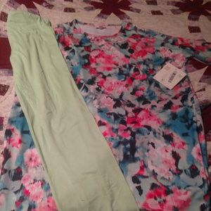 Lularoe Irma and one size leggings
